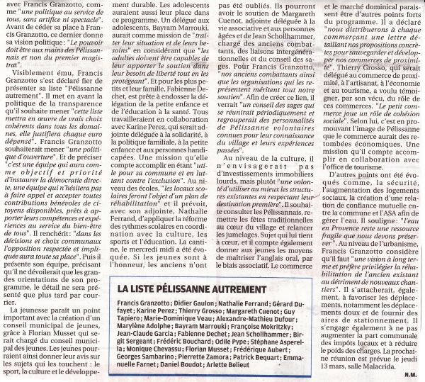 La Provence 4 mars 2014 2