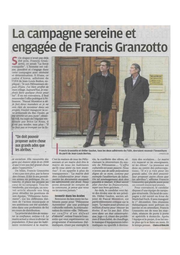 La Provence du 22 novembre 2013
