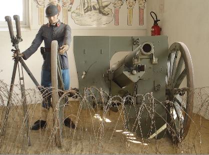 Canon de 75 et son chef de pièce (musée des blindés de Saumur)
