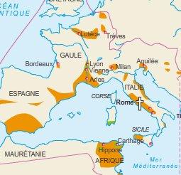 Diffusion du Christianisme au III siècle après J.C.
