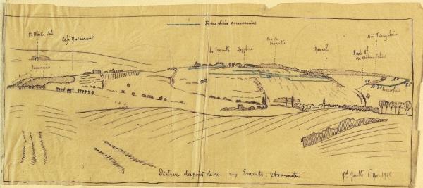 la zone des combats du 10ème RAP en mars 1915