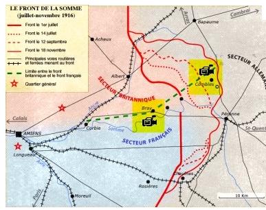 Le front de Somme en 1916