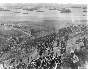 débarquement français aux Dardanelles