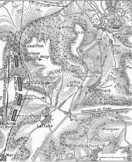 carte de l'offensive du 16 avril