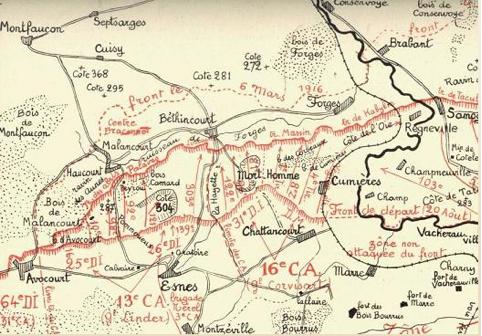 Le front près de Verdun en août 1917 (1)
